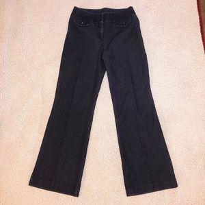 Apostrophe - Wide Leg Trouser Jeans - Dark Wash